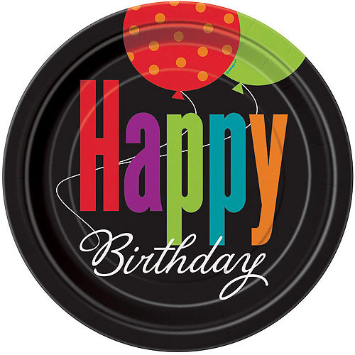 "9"" Birthday Cheer Party Plates, 8ct"