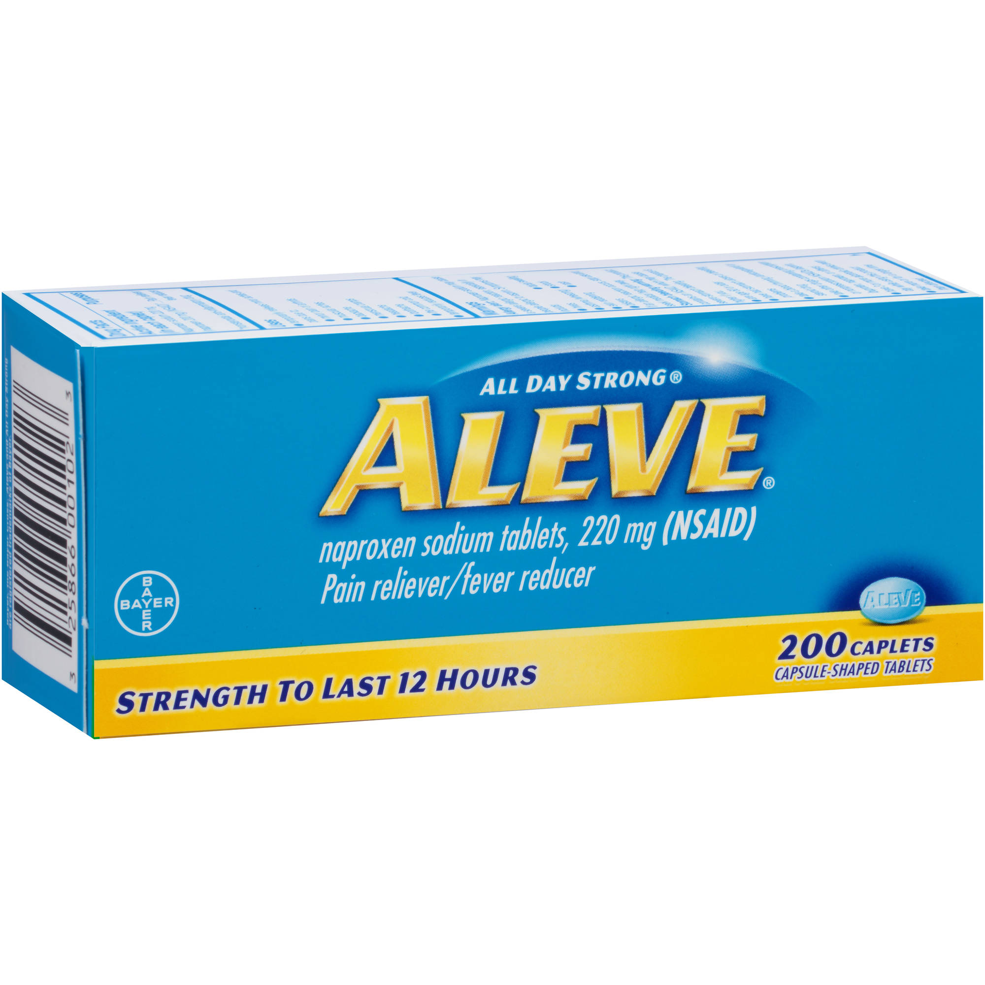 Aleve Pain Reliever/Fever Reducer Naproxen Sodium Caplets, 220mg, 220 count