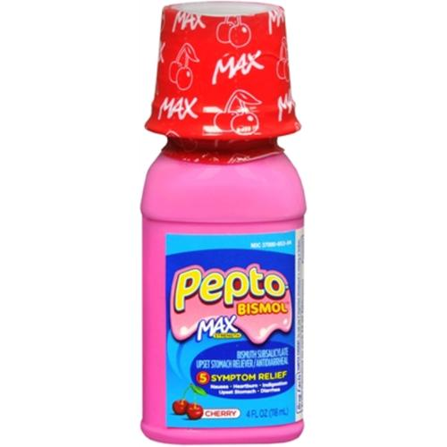 Pepto-Bismol Max Liquid Cherry 4 oz (Pack of 2)