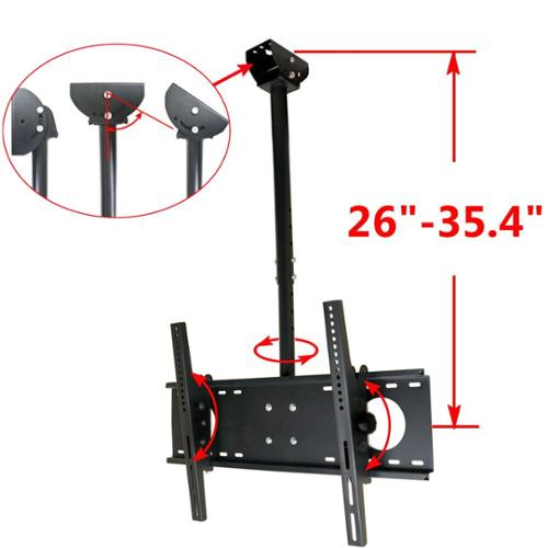 "VideoSecu Tilt TV Ceiling Mount for Most 37"" - 65"" LCD LED UHD Plasma Flat Panel Screen Display VESA 600x400mm B72"