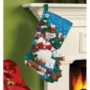 Bucilla   Felt Applique Stocking Kit by Plaid, Snow Friends, 16""