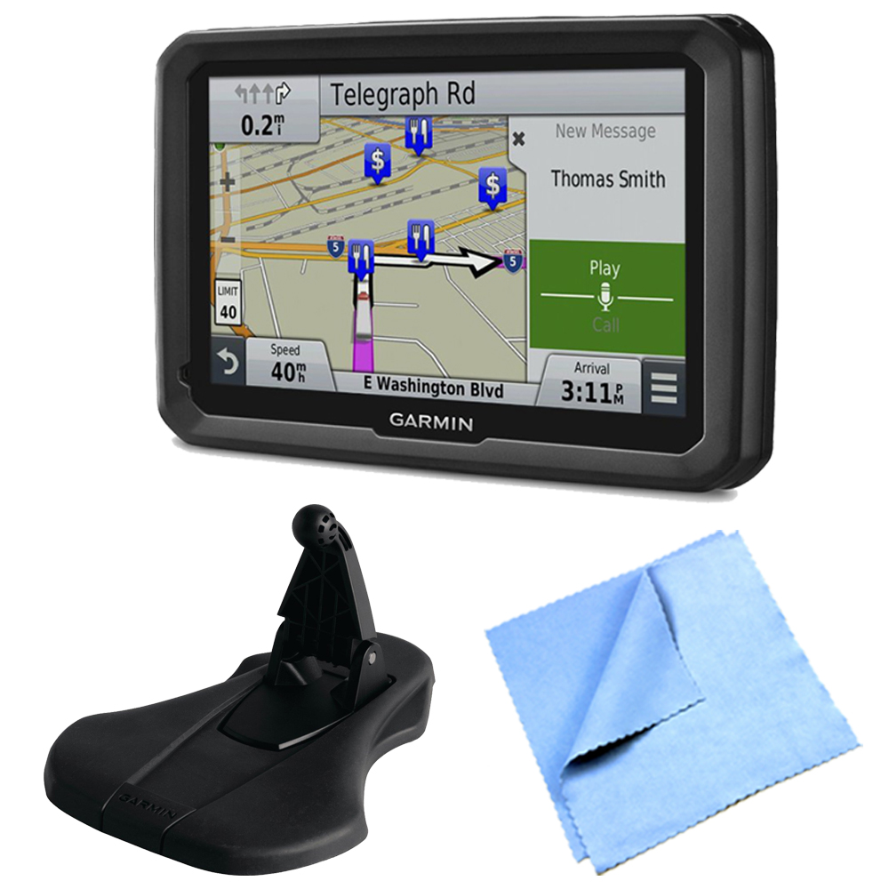 "Garmin dezl 770LMTHD 7"" GPS with Lifetime Map and Traffic Updates Friction Mount Bundle"