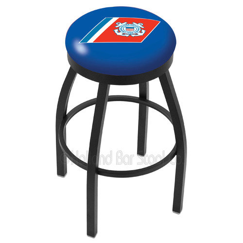 Holland Bar Stool US Armed Forces 30'' Swivel Bar Stool with Cushion