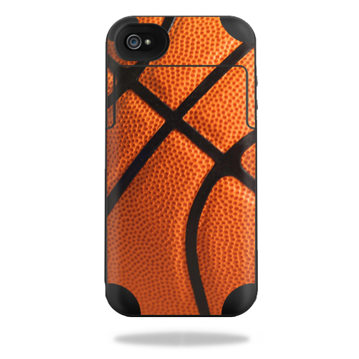 Mightyskins Protective Vinyl Skin Decal Cover for Mophie Juice Pack Plus iPhone 4 / 4S External Battery Case wrap sticker skins Basketball