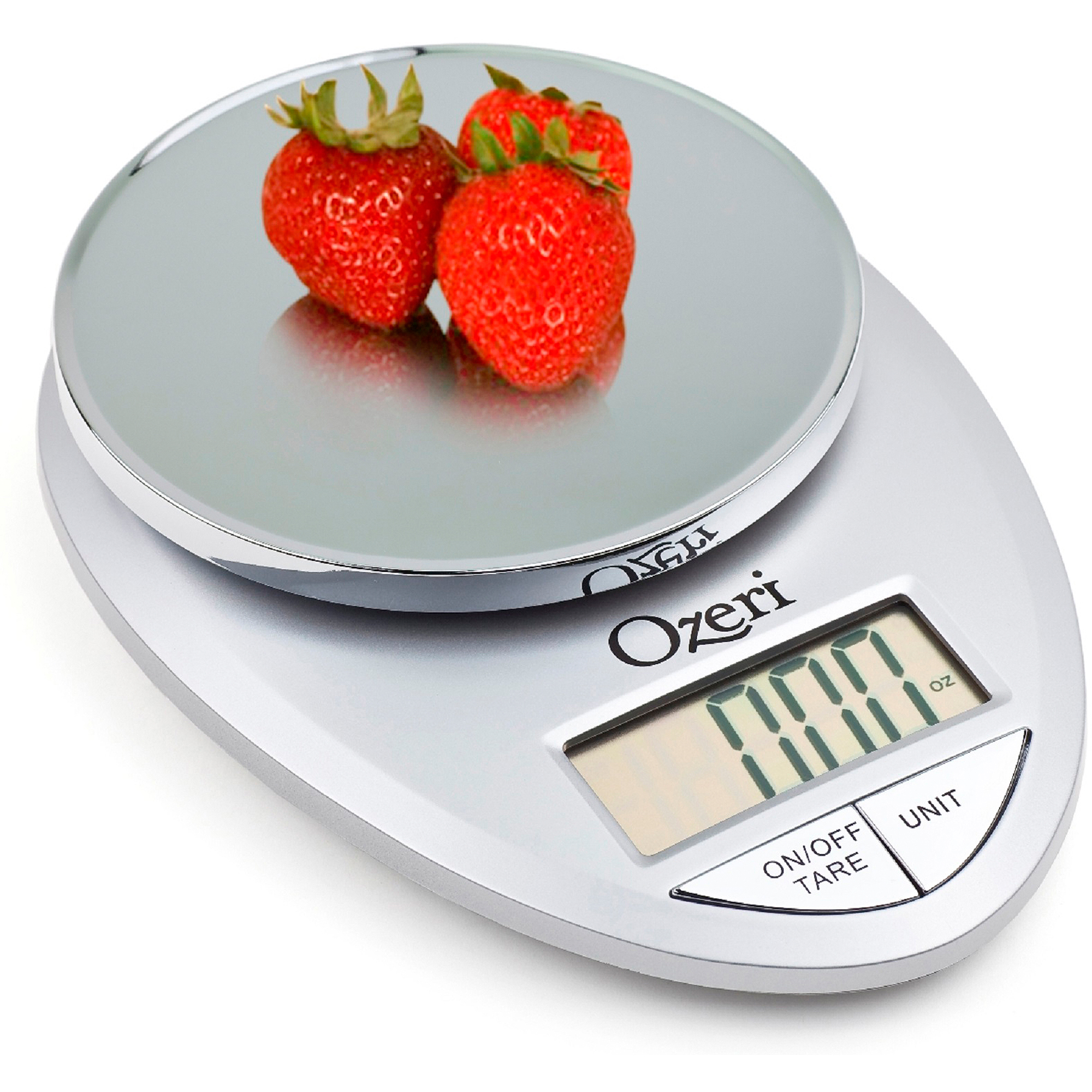 Ozeri Pro Digital Kitchen Food Scale, 1g to 12 lbs Capacity, Chrome