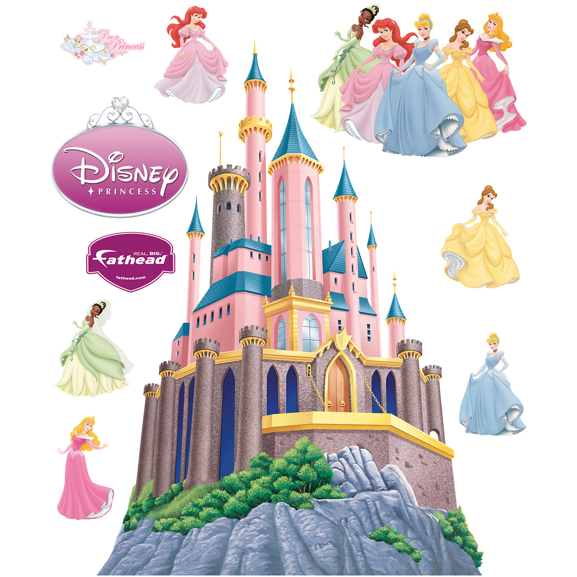 Fathead Disney Princesses Castle