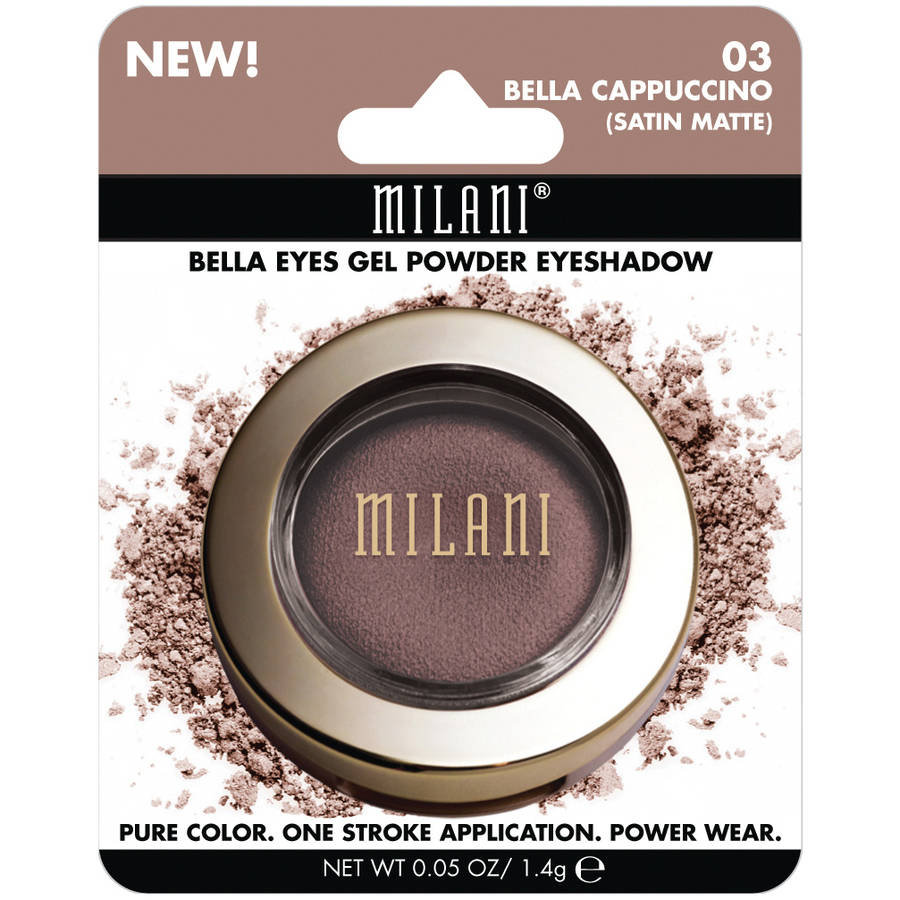 Milani Bella Eyes Gel Powder Eyeshadow, 03 Bella Cappuccino Satin Matte, 0.05 oz
