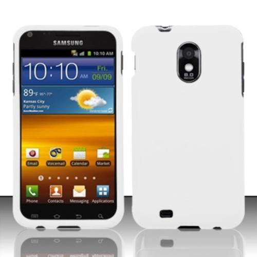 Insten For Samsung Epic Touch 4G D710 / Galaxy S2 Rubberized Cover Case - White