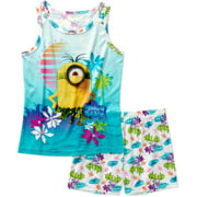 Minions Tank Sleep Top and Shorts 2 Piece Pajma Set