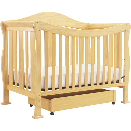 DaVinci Parker 4-in-1 Fixed-Side Convertible Crib with Toddler Rail, Natural