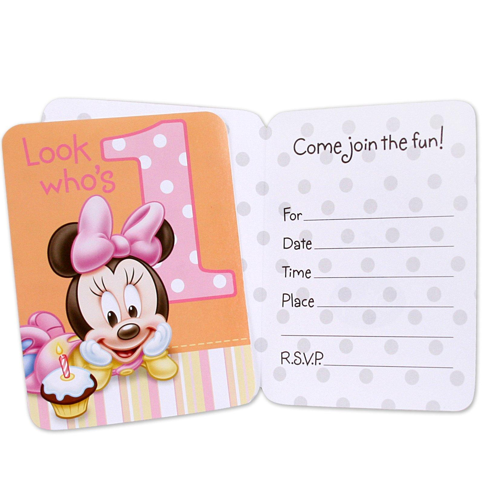 Hallmark 235570 Minnies 1st Birthday Invitations- 8 count