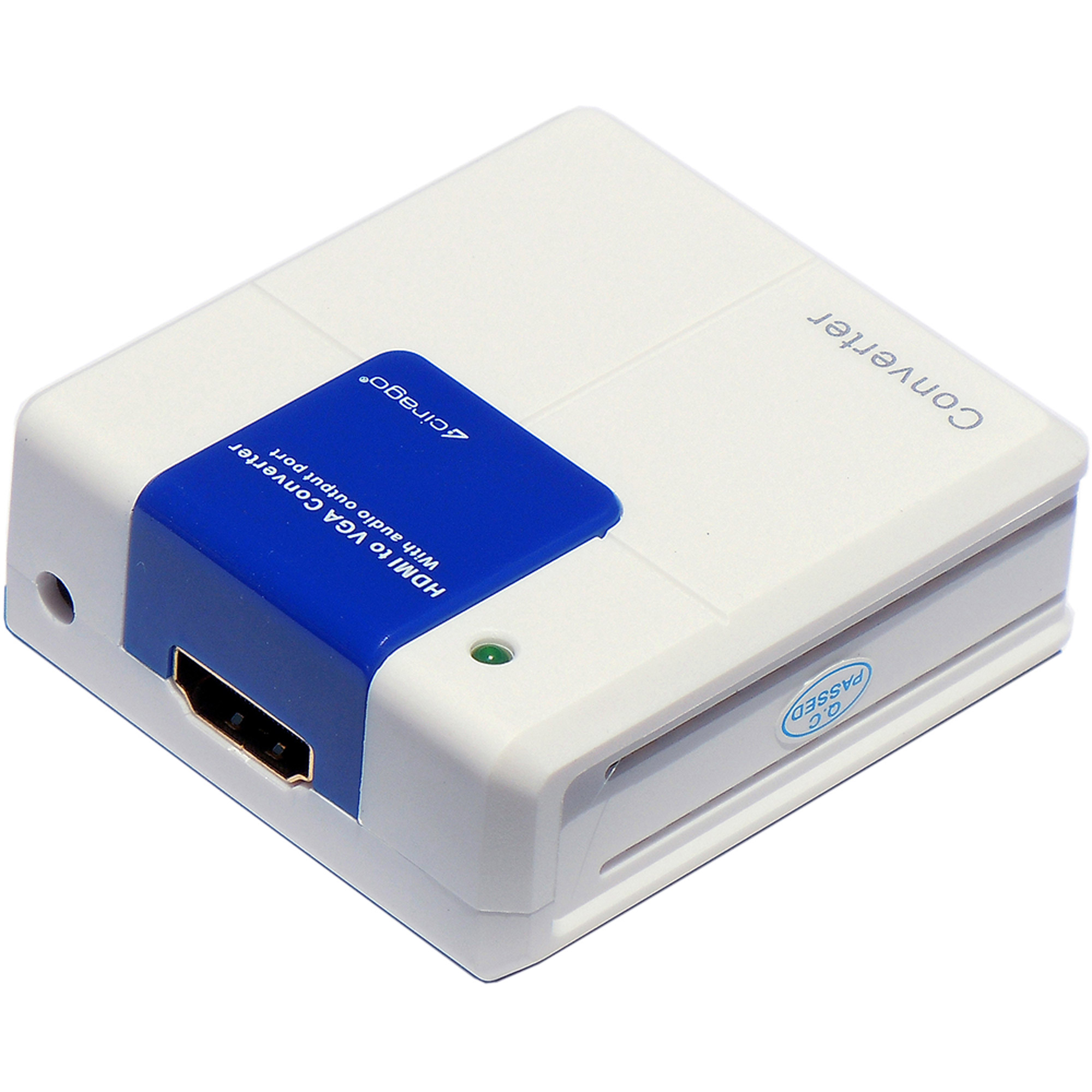 Cirago HDMVGACNVR HDMI to VGA Converter, White