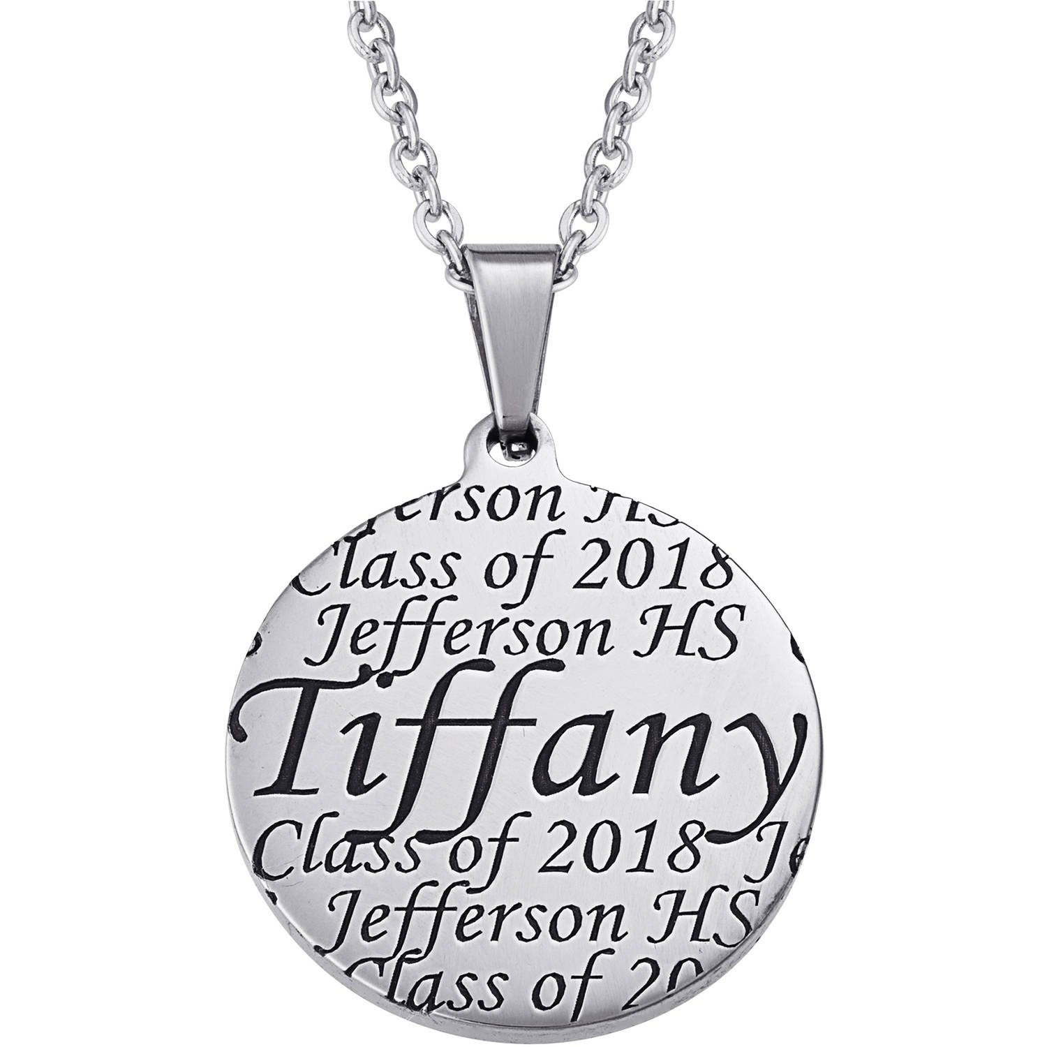 Personalized Everscribe Women's Engraved Graduation Pendant, 20""