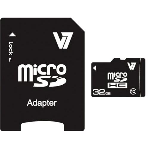 V7 VAMSDH32GCL10R-2N 32gb Micro Sdhc Class 10 Retailflsh Includes Sd Adapter