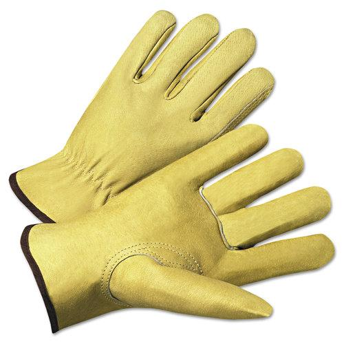4000 Series Pigskin Leather Driver Gloves, Medium, Sold as 12 Pair