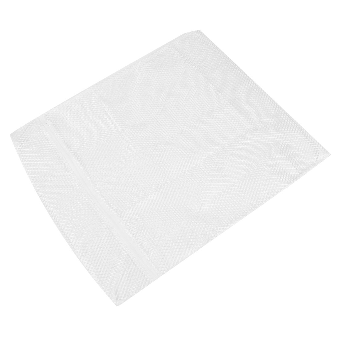 White Nylon Mesh Lingerie Bra Clothes Zippered Washing Wash Bag 20\
