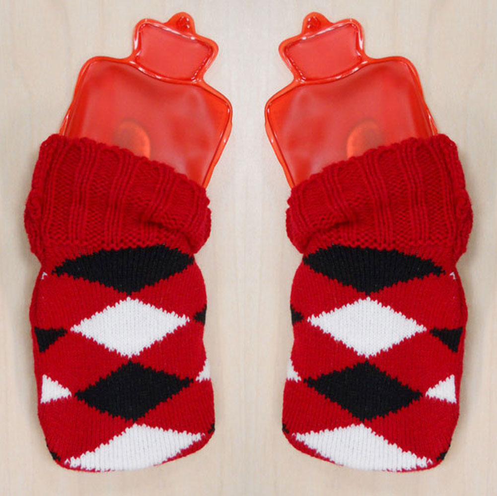 Unisex-Adult Tiny Toasty Hand Warmer Mitten Glove Inserts With Covers - Set Of 2