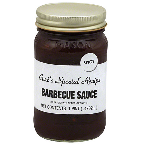 Curt's Special Recipe Spicy Barbecue Sauce, 1 pt, (Pack of 6)