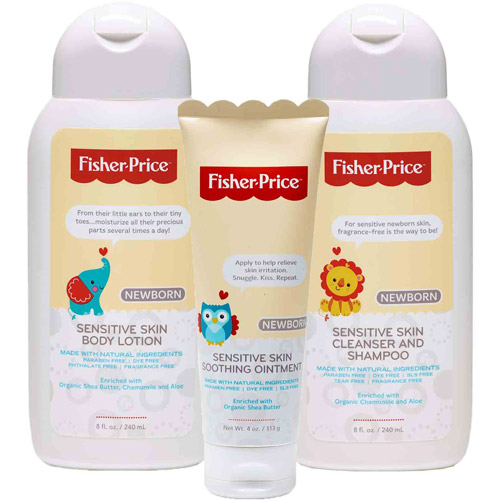 Fisher-Price Newborn Bath & Body Variety Gift Set, 3 pc