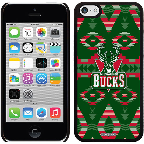 Milwaukee Bucks Tribal Print Design on Apple iPhone 5c Thinshield Snap-On Case by Coveroo