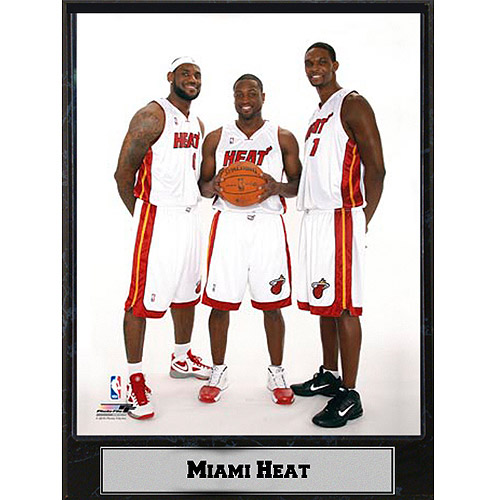 NBA Miami Heat Big 3 Photo Plaque, 9x12