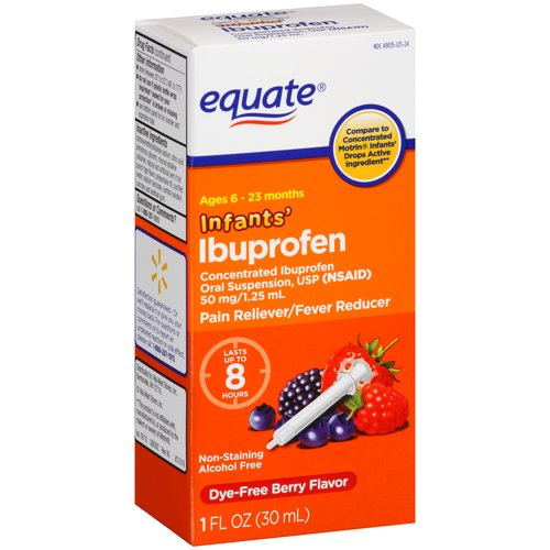 Equate Infants' Berry Flavor Ibuprofen, 1 fl oz