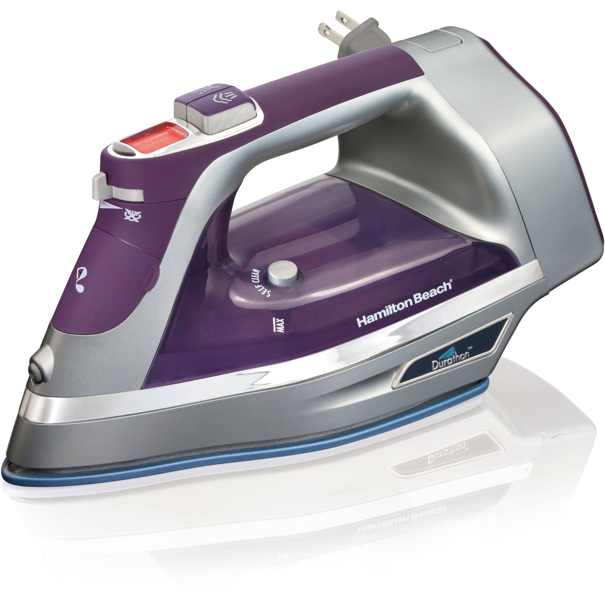Hamilton Beach Durathon Digital Retractable Cord Iron, Purple