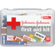 Johnson & Johnson Red Cross All Purpose First Aid Kit , 125 pc