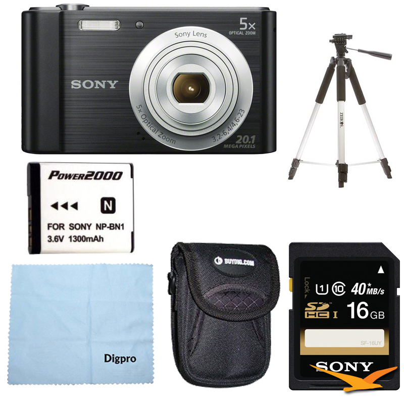Sony DSC-W800 Point and Shoot Digital Still Camera Black Kit