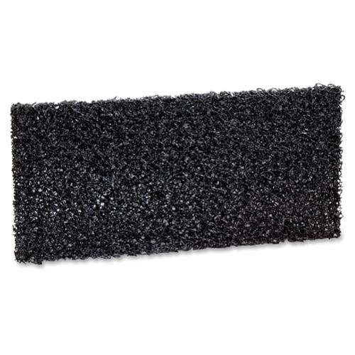 3m Cleaning Pad - 10/box - Synthetic Fiber - Black (mmm-05241)