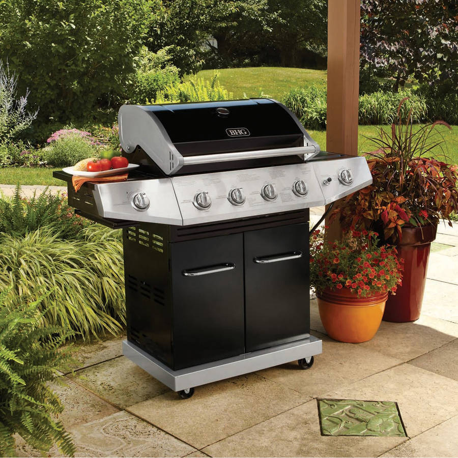 Better Homes and Gardens 4-Burner Gas Grill with Side Burner and Searing Side Burner