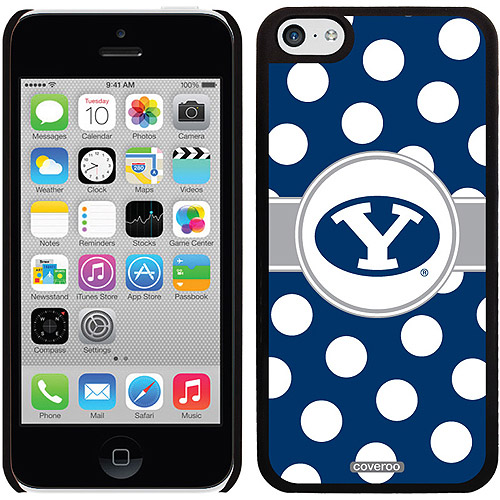 Brigham Young Polka Dots Design on iPhone 5c Thinshield Snap-On Case by Coveroo