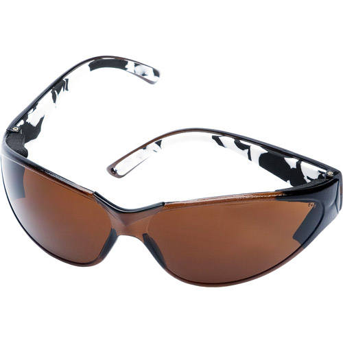Chase Ergonomics Body Glove V-Line Safety Glasses, Brown Lens and Brown Frame