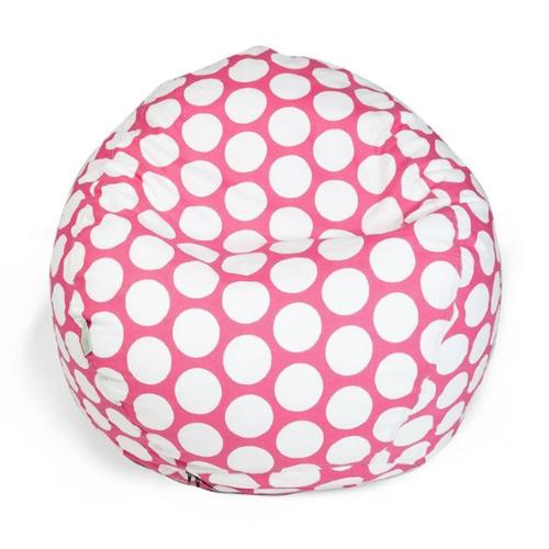 Majestic Home Goods Large Polka Dot Small Classic Bean Bag Hot Pink Large Polka Dot Small Classic Bean Bag
