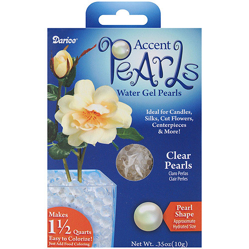 Accent Water Gel Pearls, 3mm, 10g, Clear