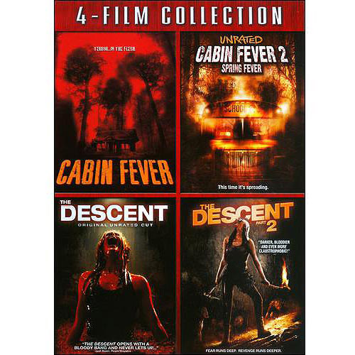 4-FILM COLLECTION-CABIN FEVER/CABIN FEVER 2/DESCENT/DESCENT 2(DVD/WS/4DISCS