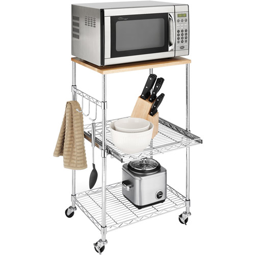 Whitmor Supreme Chrome Microwave/Kitchen Cart