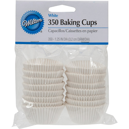 Wilton Mini Baking Cup Liner, White 350 ct. 415-5257