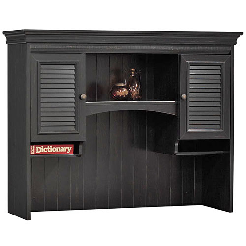 Bush Stanford Collection Hutch, Antique Black and Cherry