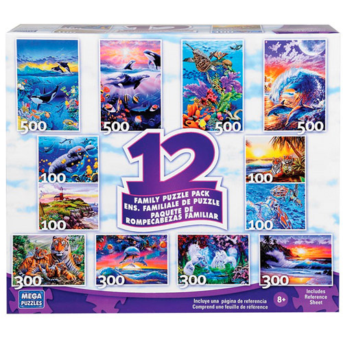 Mega Brands 12-in-1 Puzzle Multipack