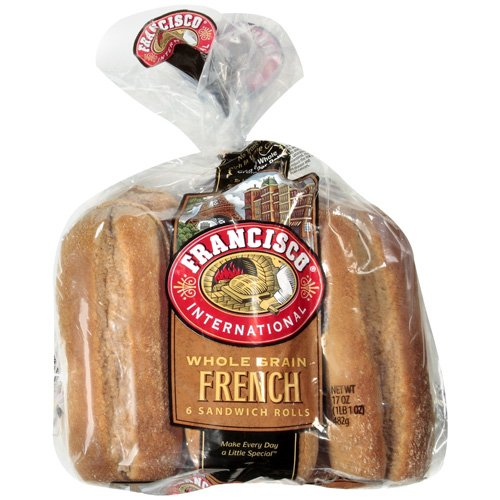 Francisco International Whole Grain French Sandwich Rolls, 17 oz