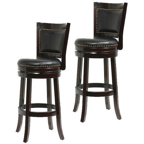 "Boraam Bristol Swivel Bar Stool, 29"", Set of 2, Multiple Colors"