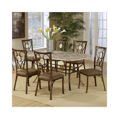 Bundle-09 Hillsdale Brookside Rectangular Oval Back Dining Set (6 Pieces)