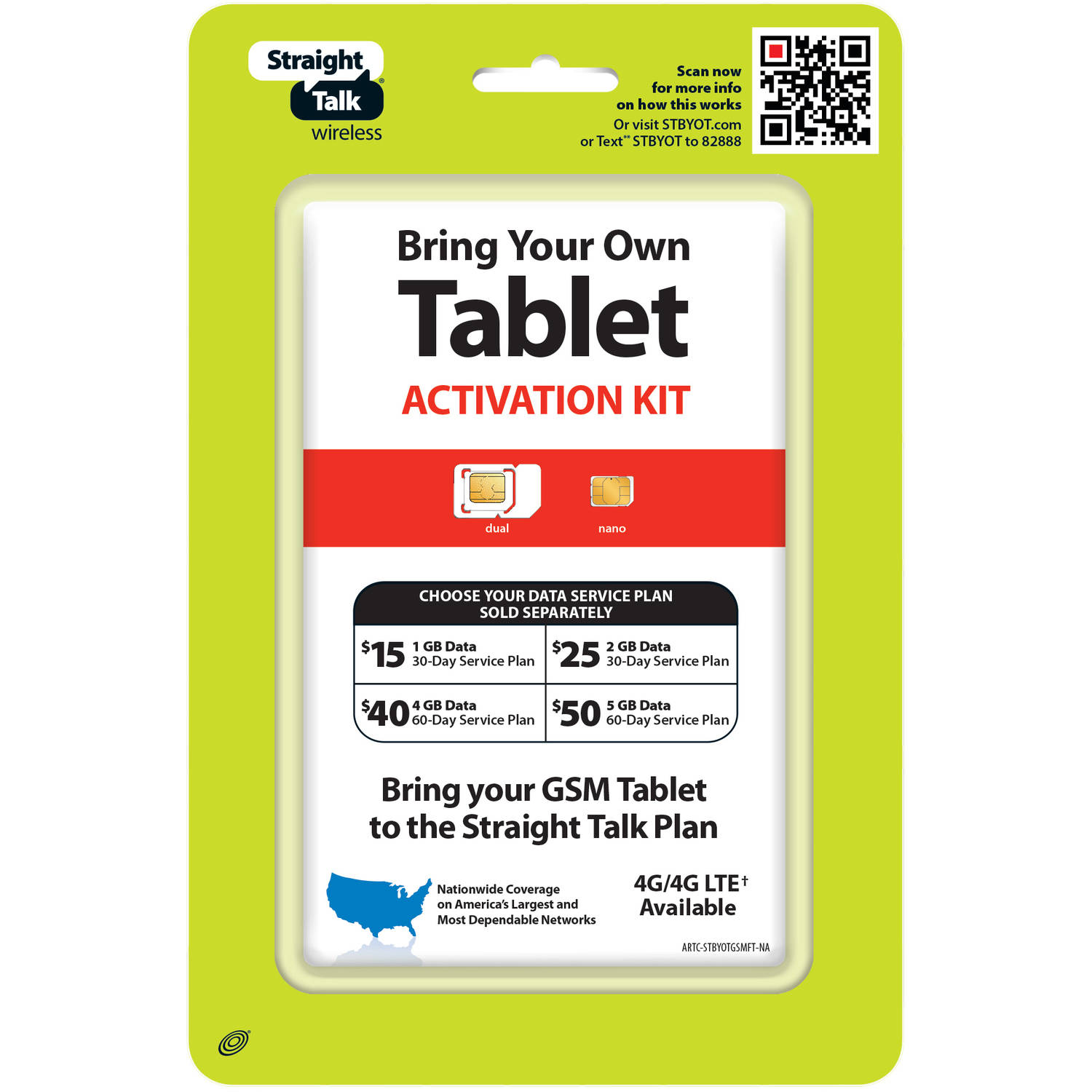 Straight Talk Bring Your Own Tablet Activation Kit