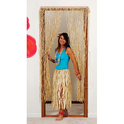 6' Raffia Door Curtain
