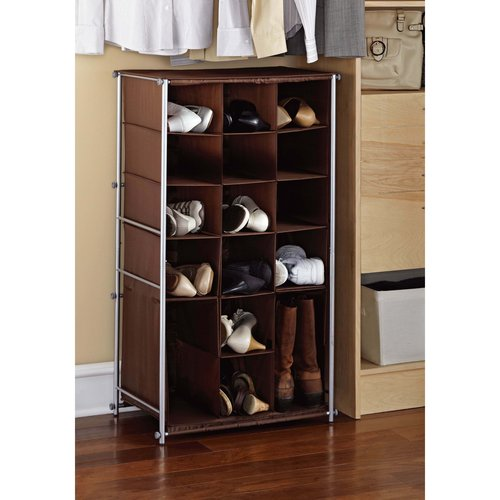 Mainstays Shoe and Boot Rack, Silver/Brown