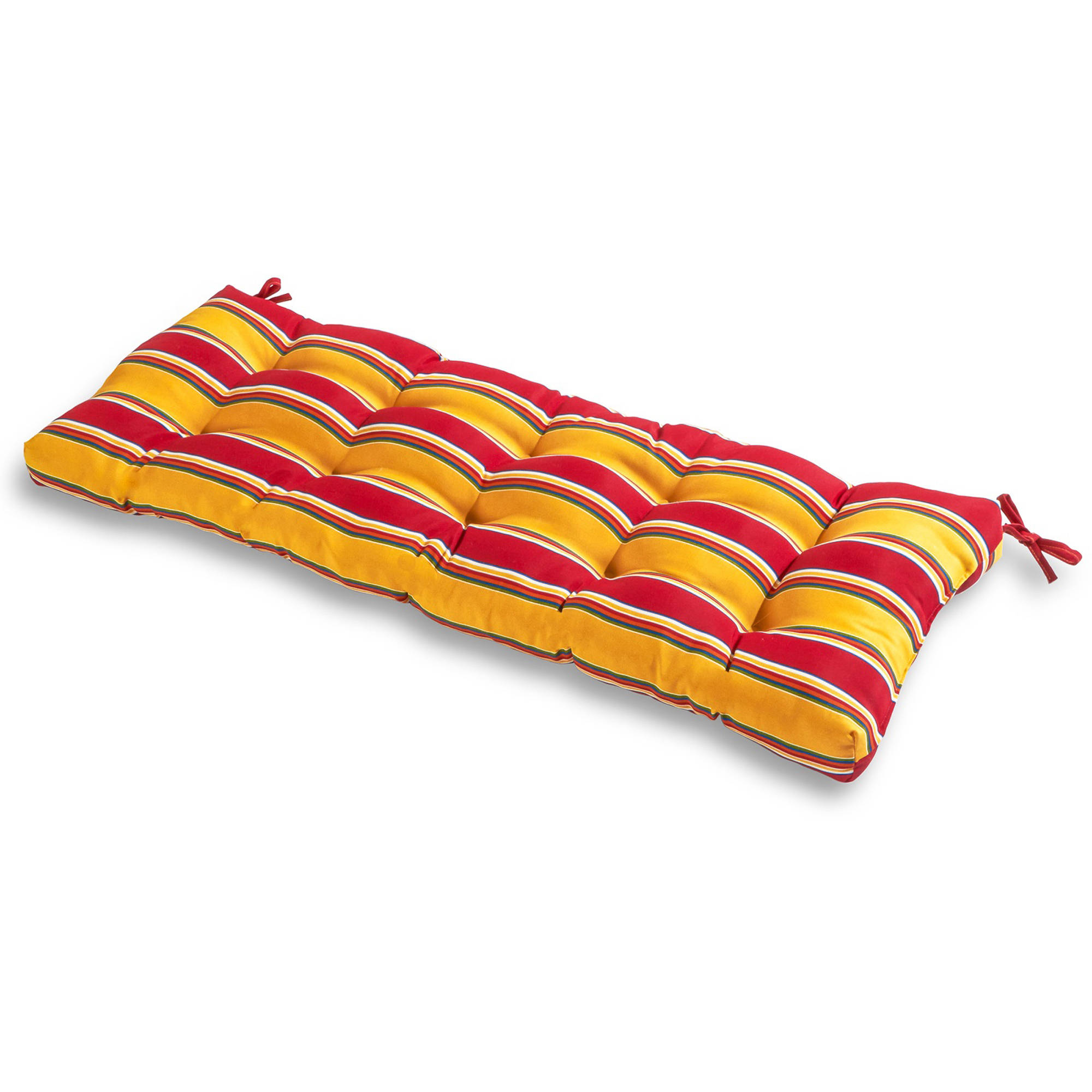 "Greendale Home Fashions 51"" Outdoor Bench Cushion, Carnival Stripe"