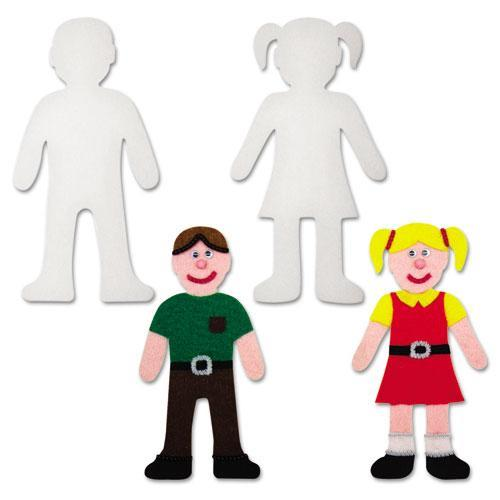 "Creativity Street Peel and Stick People Decoration Boards, 8"", 12 Pieces"