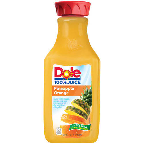 Dole 100% Pineapple Orange Juice, 59 fl oz