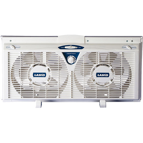 "Lasko Products 8"" Electrically Reversible Twin Window Fan  2138"